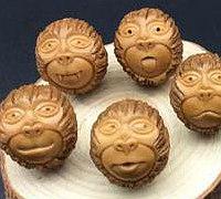 猴头核桃雕刻猴头教程 可以串成手链
