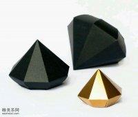 用卡纸制作出一个逼真的立体折纸钻石