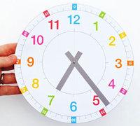 DIY教学用具时钟 标准时钟模板