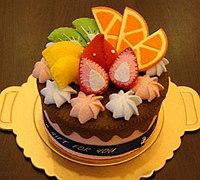 不织布水果蛋糕手工制作教程