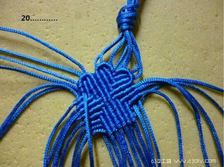 四叶草手绳编织手工教程