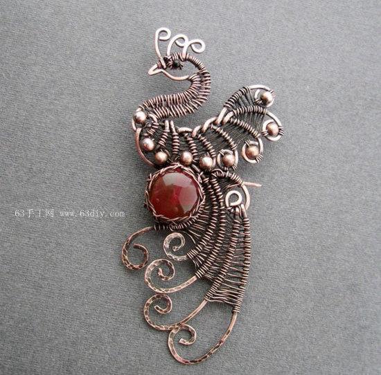 极致手工艺之金属丝绕线首饰作品(3)