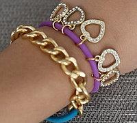 三款彩色皮筋发圈DIY创意手环