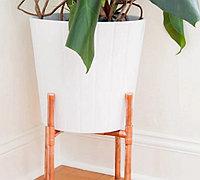 用铜管制作一个简易的盆栽支架置物架