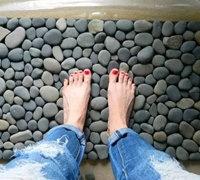 鹅卵石地垫的做法 鹅卵石diy手工地毯