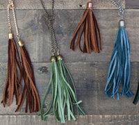 波西米亚风格皮革流苏项链挂饰diy教程