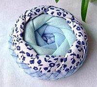 玫瑰花造型的布艺饰品包零钱包