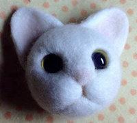 小白猫戳戳乐图解 羊毛毡小猫咪制作教程