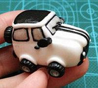 粘土手工制作超酷的越野吉普车