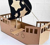 用瓦楞纸手工制作逼真的海盗船步骤