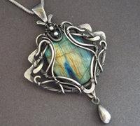 极致手工艺之金属丝绕线首饰作品(4)