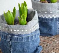旧牛仔裤新用法 废物利用变身生活用品