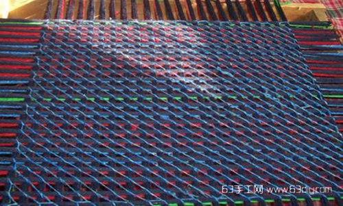 旧毛线编织坐垫图解