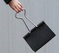 包包的创意设计 长尾夹个性手提包
