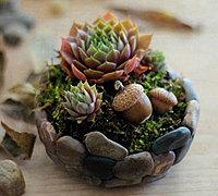 用软陶制作一款个性鹅卵石花盆