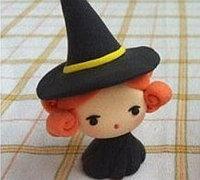 可爱小女巫软陶人偶手工制作