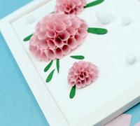 浮雕般感觉的立体纸花装饰画制作图解