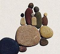 意境石头拼贴画 鹅卵石创意石头画欣赏