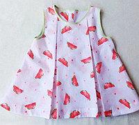 清凉的西瓜图案儿童连衣裙制作