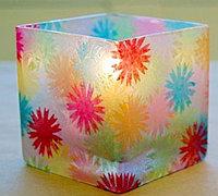 可爱的小花玻璃杯玻璃烛台彩绘教程