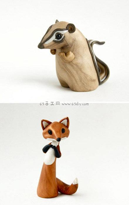 精湛的大师级粘土小动物玩偶手工作品图片