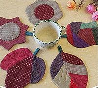 森系杯垫布艺手工教程