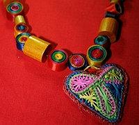 彩色缎带DIY民族风项链饰品
