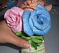 用普通彩纸diy生动漂亮的立体纸花