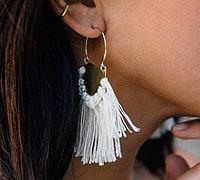 用黄铜片自制波西米亚风格流苏耳环