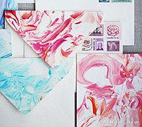 大理石花纹纸纸彩绘轧染教程