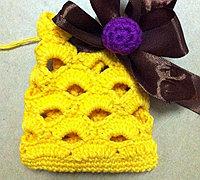 镂空毛线小包包口袋包钩针编织教程