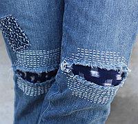 超大破洞牛仔裤的完美修补方法