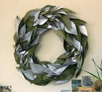 DIY叶子花环 让绿色带来春的希望