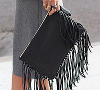 过时皮革包改造diy个性时尚流苏手拿包