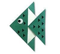 热带鱼的折纸方法 简单折纸小鱼步骤图解