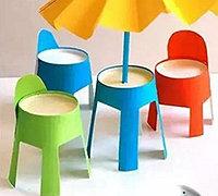 一次性纸杯手工小制作 DIY可爱的桌椅小家具
