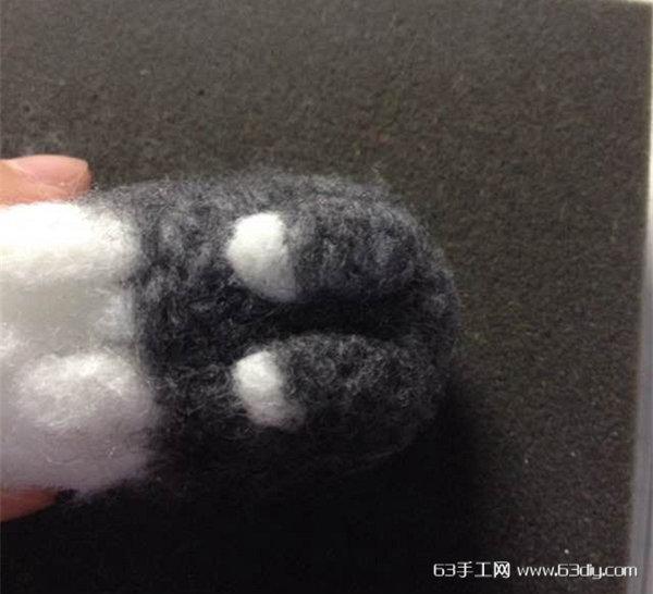 羊毛毡小动物之可爱道奇兔制作教程