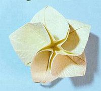 五瓣钻石玫瑰花的折法图解