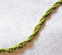 刺绣基础针法(17)之葡萄牙边针绣