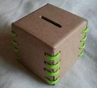 如何自制存钱罐 硬纸板简单制作纸盒存钱罐