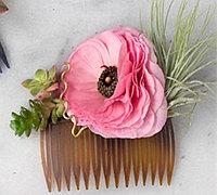 新娘头饰新创意 鲜花与多肉diy私人定制新娘头花