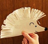 儿童手工 一次性纸盘DIY可爱小刺猬