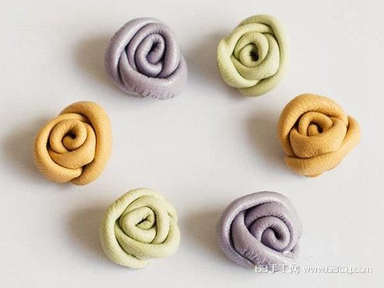皮革碎料简单手工制作玫瑰花图解