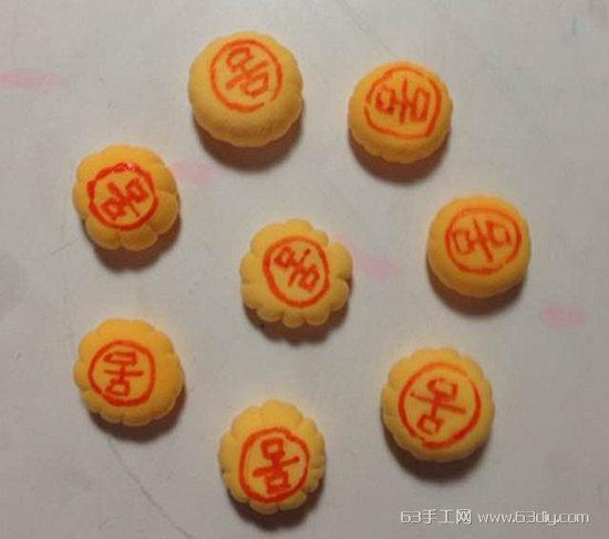 过程10:中秋节月饼粘土制作教程