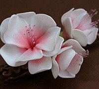 用软陶做梅花 软陶花朵制作教程