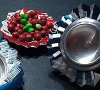 易拉罐变废为宝制作精美小果盘