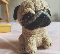 丑萌丑萌的巴哥犬 羊毛毡小狗diy教程