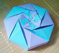 彩色八角礼品包装盒折纸diy教程