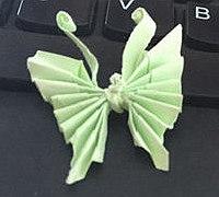 美丽的纸蝴蝶的简单折法图解
