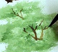 树木的手绘涂鸦教程